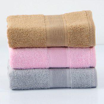 Cotton Solid Bath Towel For Adults Fast Drying Soft Thick High Absorbent - PINK
