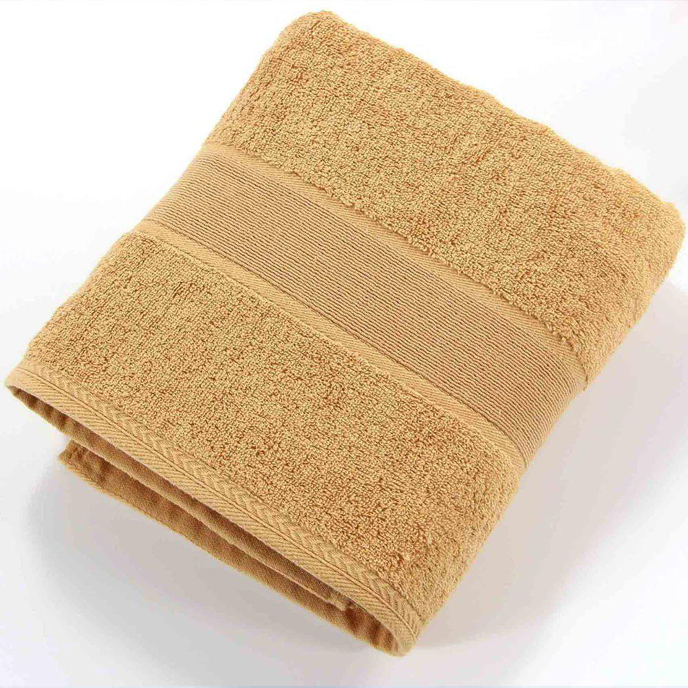 Cotton Solid Bath Towel For Adults Fast Drying Soft Thick High Absorbent - COFFEE