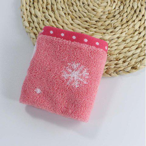 Soft Cotton Face Hand Square Towel for Children Adult Snowflake Snowflake Sports Camping - RED