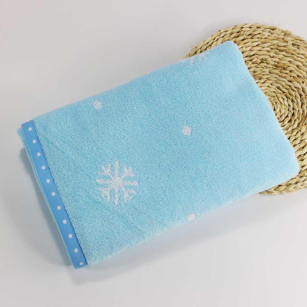 Soft Cotton Face Hair Towel for Children Adult Snowflake Snowflake Sports Camping - BLUE