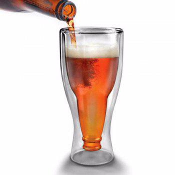 Double Wall Dragon Glassware Beer Glass - TRANSPARENT