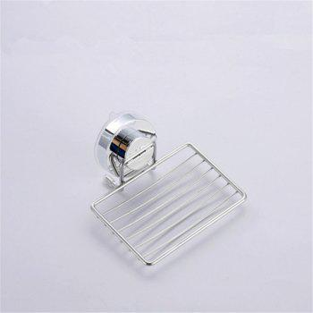 Non Perforated Suction Cup Soap Rack - SILVER