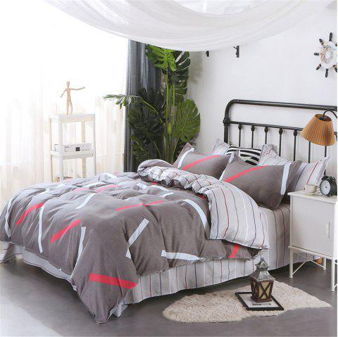 Four Pieces of Bedding Bedding Bag of 1.5M Student Sheets - GRAY KING