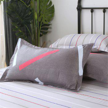 Four Pieces of Bedding Bedding Bag of 1.5M Student Sheets - GRAY QUEEN