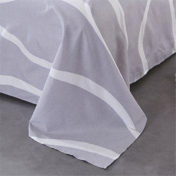 Four Pieces of Bedding Bedding Bag of 1.5M Student Sheets - WHITE GREY QUEEN