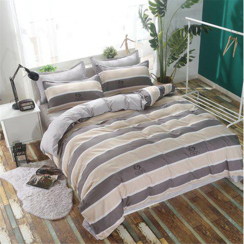 Bedclothes 4 Pieces 1.5/1.8M Bedsheets Are Covered By A Student Dormitory 1.2 Single Bed Quilt 3 Sets 4 - GRAY FULL