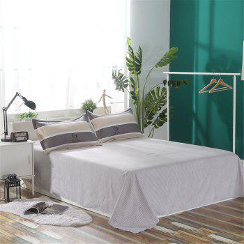 Bedclothes 4 Pieces 1.5/1.8M Bedsheets Are Covered By A Student Dormitory 1.2 Single Bed Quilt 3 Sets 4 - GRAY QUEEN