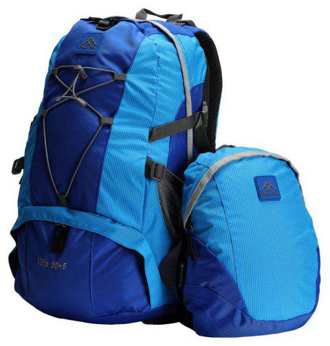 PolarFire Backpack Set 40L Water-Resistant Anti-Tearing Outdoor Bag for Camping Hiking Travelling - AZURE
