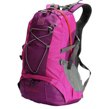 PolarFire Backpack Set 40L Water-Resistant Anti-Tearing Outdoor Bag for Camping Hiking Travelling - ROSE RED