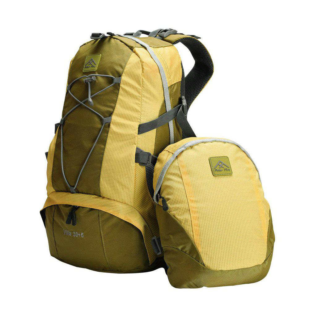 PolarFire Backpack Set 40L Water-Resistant Anti-Tearing Outdoor Bag for Camping Hiking Travelling - LEMON