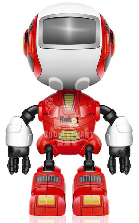 Smart Robot Toy Electronic Action Figure Control Head Touch-sensitive LED Light for Boys Birthday - RED 1PC