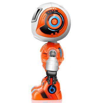 Smart Robot Toy Electronic Action Figure Control Head Touch-sensitive LED Light for Boys Birthday - ORANGE 1PC