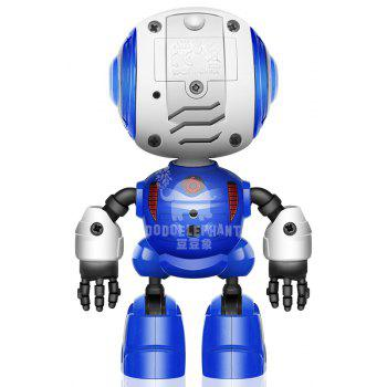 Smart Robot Toy Electronic Action Figure Control Head Touch-sensitive LED Light for Boys Birthday - BLUE 1PC