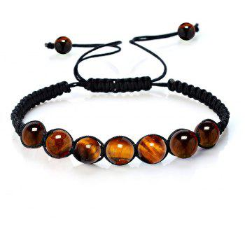 Fashionable Energy Natural Crystal Tiger Eye Stone Handcraft Bracelet Jewelry Woman - BROWN