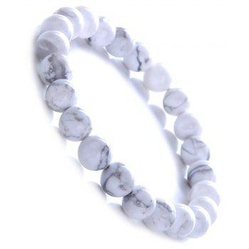 Fashion Minimalist Natural White Turquoise Bracelet Woman Jewelry - WHITE
