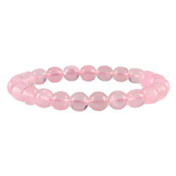 Fashion Simple Natural Pink Crystal Bracelet Woman Jewelry - PINK