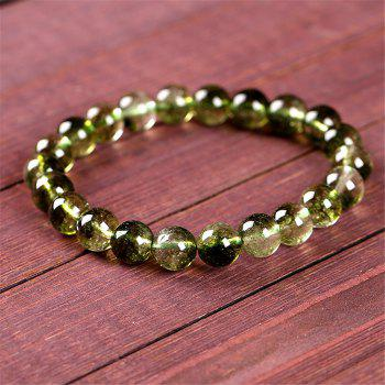 Fashion Simple Natural Green Crystal Bracelet Woman Jewelry - IVY