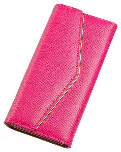 Baellerry Women's Trifold Long Purse Casual Wallet Hand Bag Credit Card Holder - ROSE RED