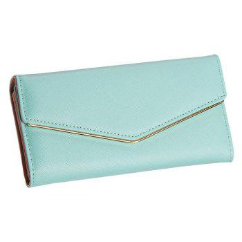 Baellerry Women's Trifold Long Purse Casual Wallet Hand Bag Credit Card Holder - BLUE