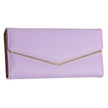 Baellerry Women's Trifold Long Purse Casual Wallet Hand Bag Credit Card Holder - PURPLE