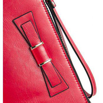 Baellerry Women's Long Large Capacity Bowknot Purse Hand Bag Mobile Phone Package - RED