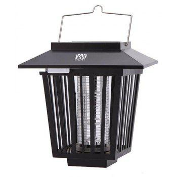 YWXLight Outdoor Solar Mosquito Killer Lamp 3 LED Hanger Fly Insect Repellent Lamp Lawn - BLACK