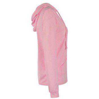2018 Spring and Autumn Long Sleeve Zipper Jacket - PINK M
