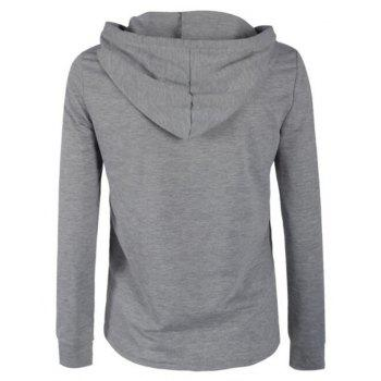 2018 Spring and Autumn Long Sleeve Zipper Jacket - GRAY L