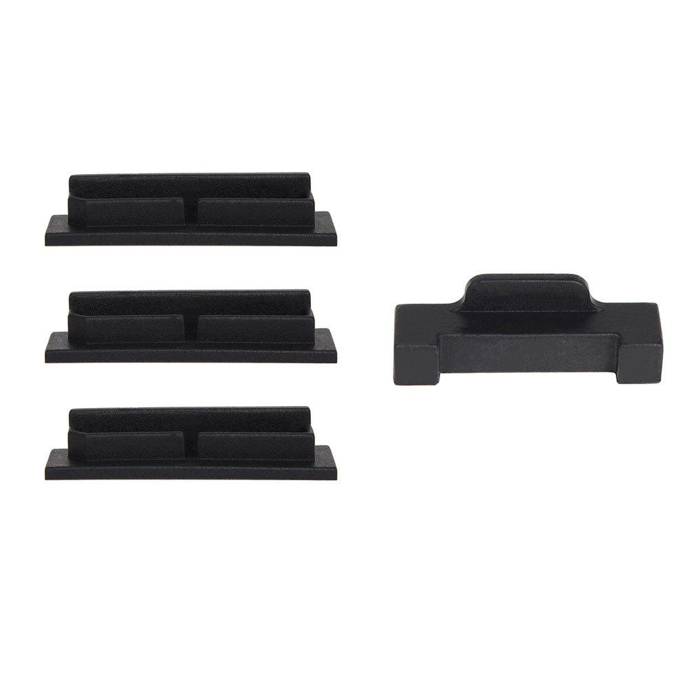Drone Body Battery Charging Port Protector Silicone Cover Dustproof Plug for DJI MAVIC AIR 4pcs/set - BLACK