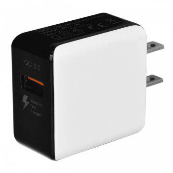 JOFLO QC3.0 Fast-Charging US Plug USB AC Charger + USB 3.1 Type-C Charging / Data Transfer Cable - WHITE