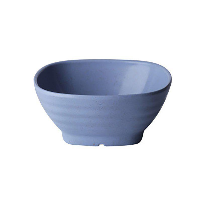 DIHE Environmental Protection Wheat Straw Thick and Solid Japanese Rice Bowl Soup Bowl - BLUE