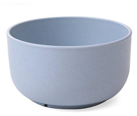 DHE Environmental Protection Wheat Straw Broken - Resistant Rice Bowl - BLUE