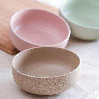 DHE Environmental Protection Wheat Straw Broken - Resistant Rice Bowl - PINK