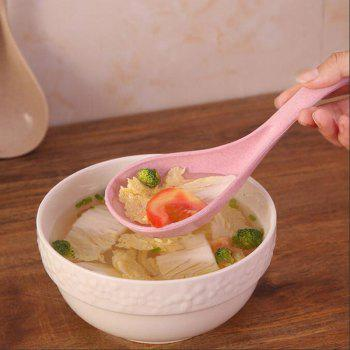 DIHE Simple Environmental Protection Wheat Straw Soup Ladle - PINK