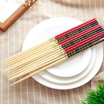 DIHE Lengthen Lo Mein Hot Pot Exclusive Use Bamboo Chopsticks - RED