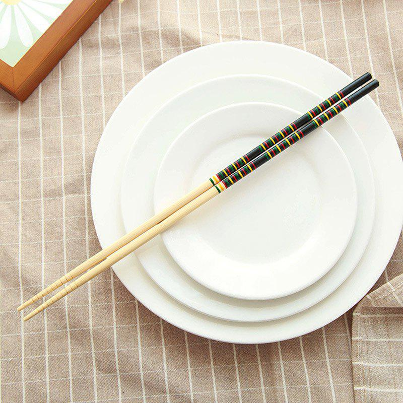 DIHE Lengthen Lo Mein Hot Pot Exclusive Use Bamboo Chopsticks - BLACK