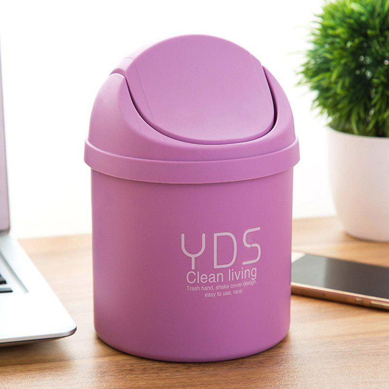 DIHE Mini Originality Cover Band Cute Desktop Garbage Can - PURPLE