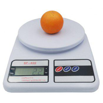 Digital Kitchen Scale for Cooking and Baking with 10 KG Capacity 1G Accuracy - WHITE