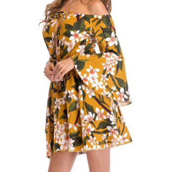 Strapless Collar Big Swing Dress - GINGER M