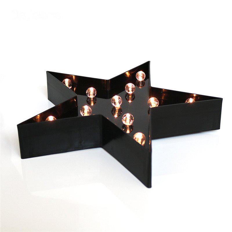LED Star Night Light Table Lamp for Kids Children Gift Party Wedding Room Decoration - BLACK