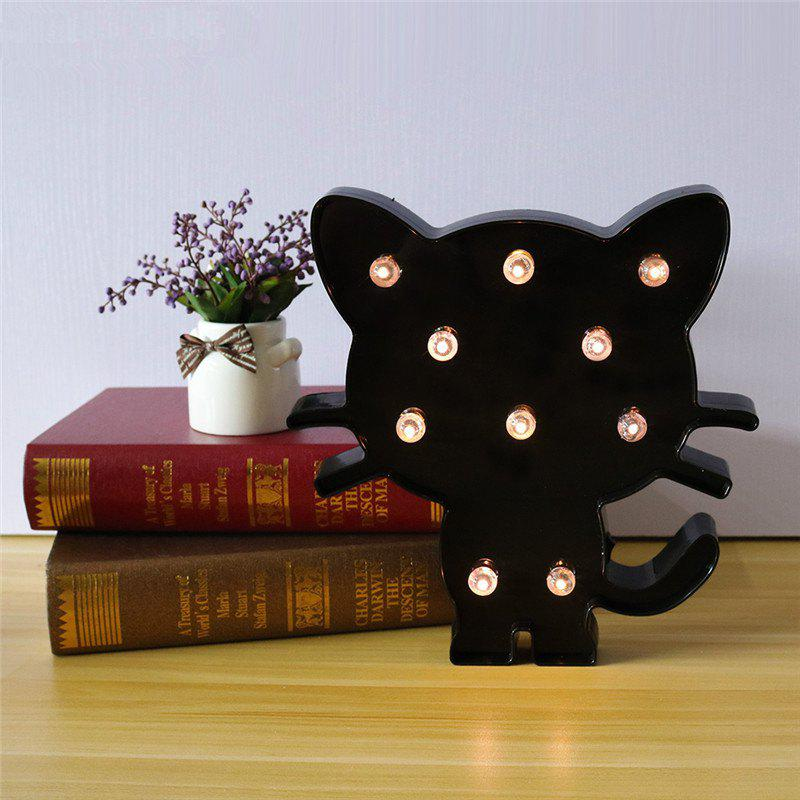 LED Cute Black Cat Night Light Decoration for Children Bedroom Living Room living room chair yellow red color stool retail wholesale free shipping furniture shop children stool