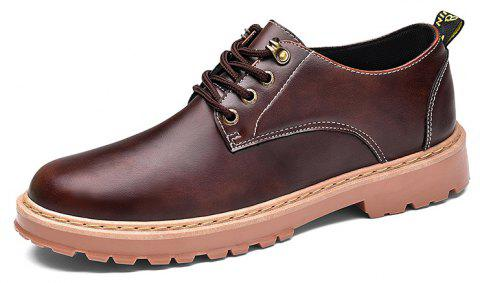 Simple Breathable Formal Casual Shoes For Men - DEEP BROWN 42