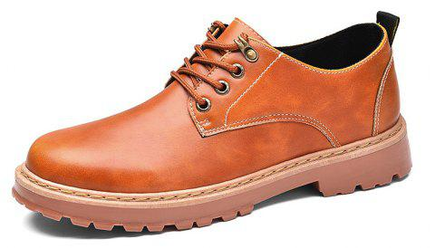 Simple Breathable Formal Casual Shoes For Men - YELLOW BROWN 42