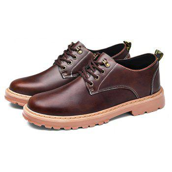 Simple Breathable Formal Casual Shoes For Men - DEEP BROWN 44