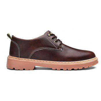 Simple Breathable Formal Casual Shoes For Men - DEEP BROWN 43