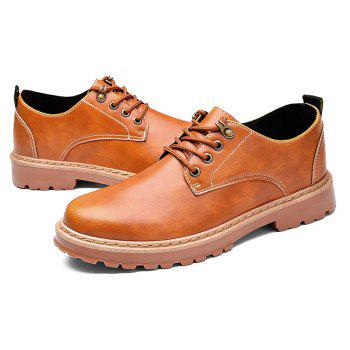 Simple Breathable Formal Casual Shoes For Men - YELLOW BROWN 40