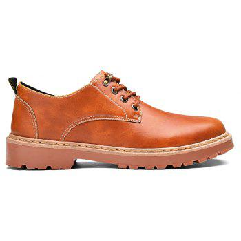 Simple Breathable Formal Casual Shoes For Men - YELLOW BROWN 41