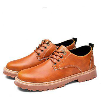 Simple Breathable Formal Casual Shoes For Men - YELLOW BROWN 43