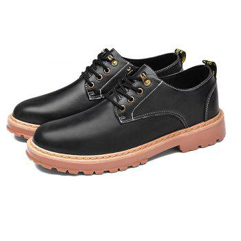 Simple Breathable Formal Casual Shoes For Men - BLACK 42