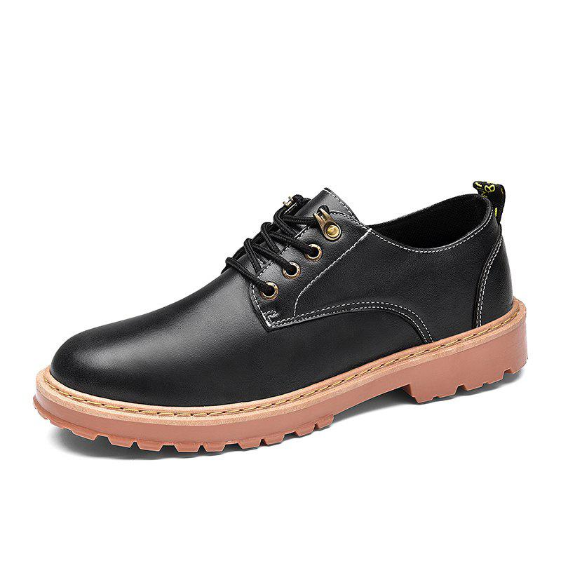Simple Breathable Formal Casual Shoes For Men - BLACK 43